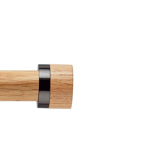 Neo Oak 28 mm Stud Finial - Black Nickel