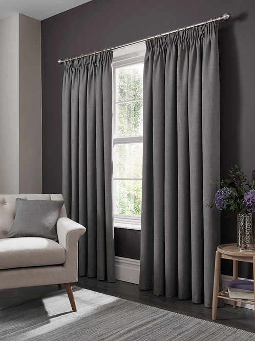 Elba Pencil Pleat Steel Curtains