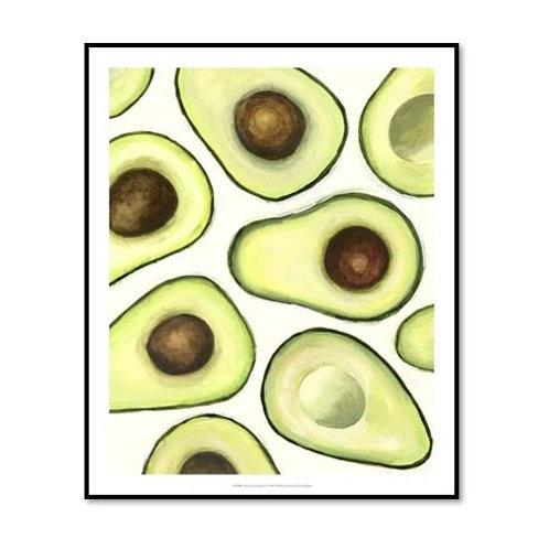 Avocado Arrangement I - Framed & Mounted Art