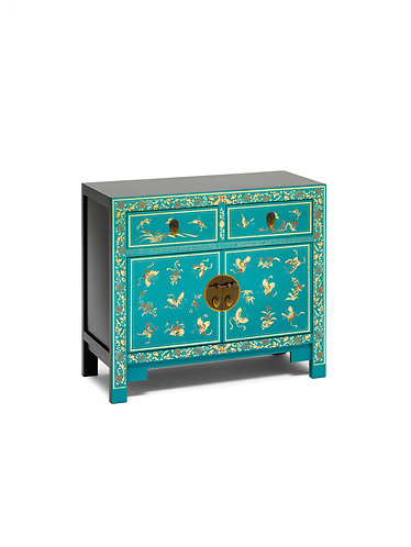 40272 - The Nine Schools Oriental Decorated Blue Sideboard