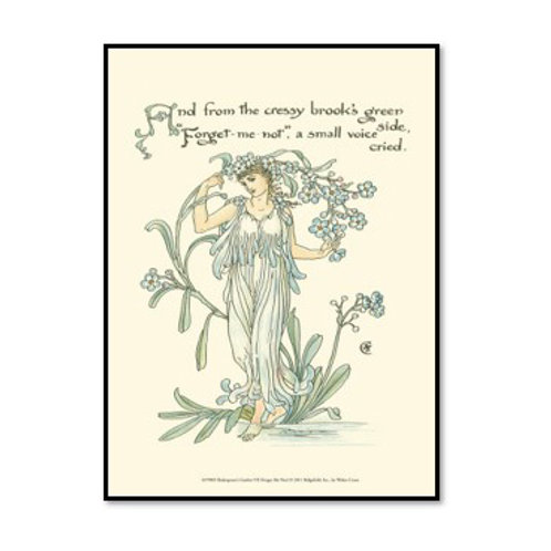 Shakespeare's Garden VII (Forget me not) - Framed & Mounted