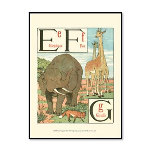 Noah's Alphabet II - Framed & Mounted Art