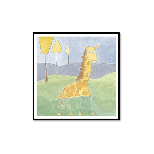 Quinn's Giraffe- Framed & Mounted Art