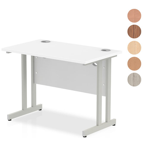 Impulse 1000 Return Desk Silver Cantilever Leg