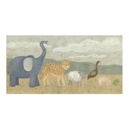 Animals All in a Row I - Canvas Art