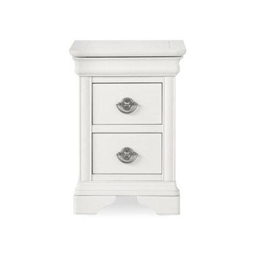 Chantilly White 2 Drawer Nightstand