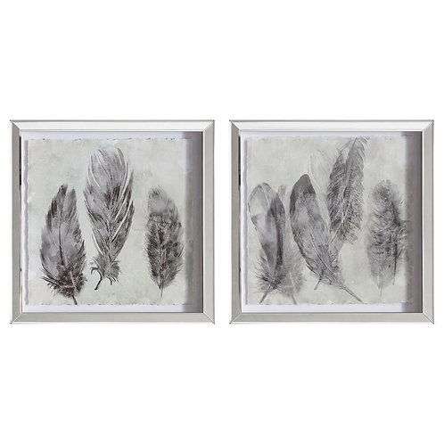 Feather Prints - Framed Art