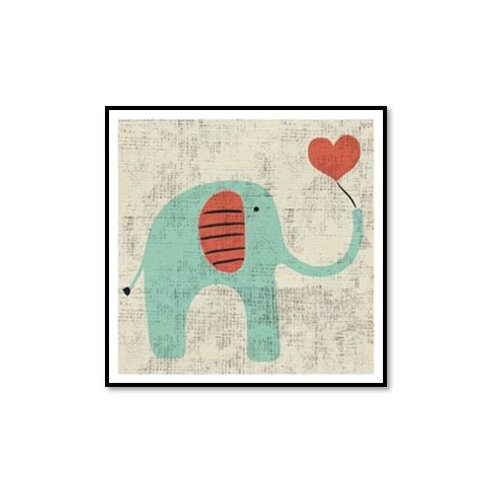 Ada's Elephant - Framed & Mounted Art