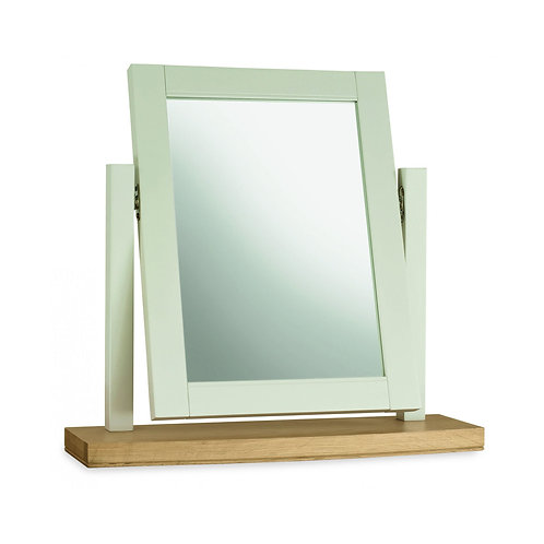 Hampstead Soft Grey & Pale Oak Vanity Mirror