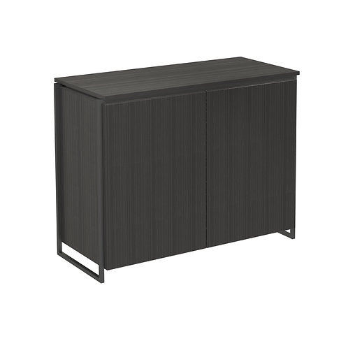 Federico Two Door Sideboard in Matt Black Frame