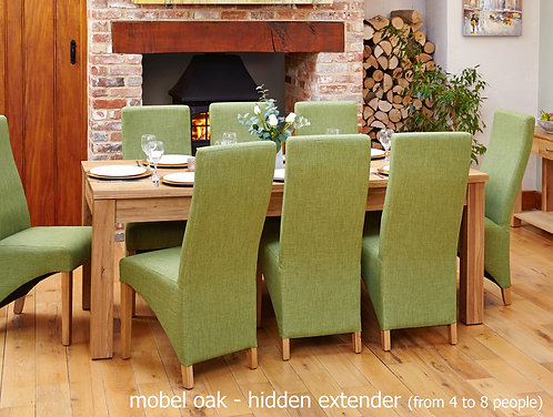 Mobel Hidden Extending Oak Dining Table (Seats 4-8)