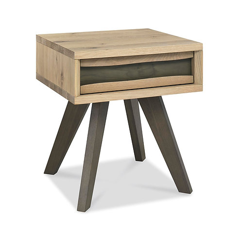 Cadell Aged Oak Lamp Table With Drawer