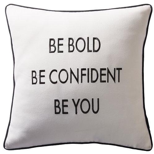 Slogan Square Cushion