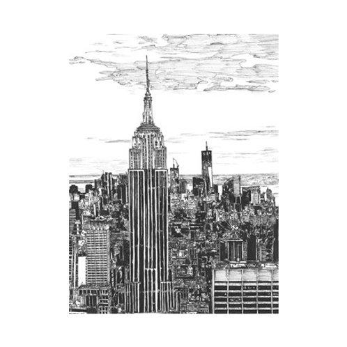 B&W Us Cityscape-NYC - Canvas Art