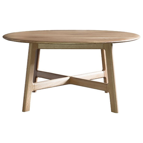 Atletico Round Coffee Table - Oak