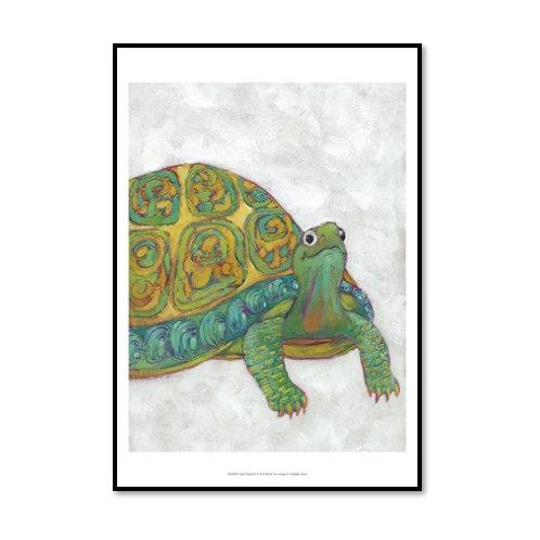 Turtle Friends II - Framed & Mounted Art