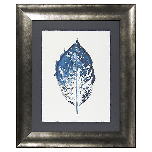 New Beginning in Blue IV - Framed Art