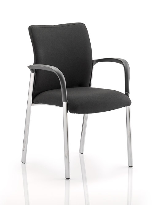 Academy Chair Black Fabric Back With Arms