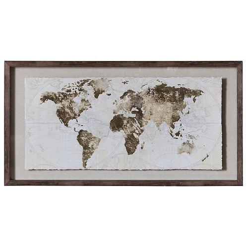World Map Framed Art
