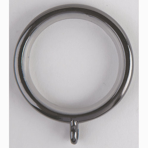 28 mm Neo Curtain Pole Ring - Pack of 6 - Black Nickel