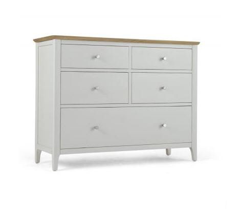 Branford Painted - 5 Drawer Wide Chest