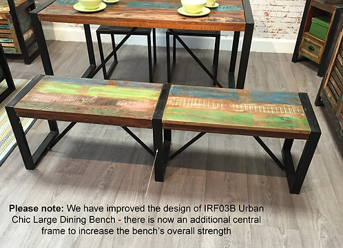 Urban Chic Large Dining Bench