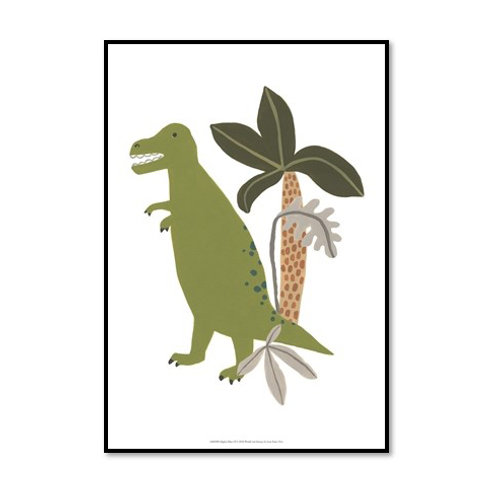 Mighty Dino II - Framed & Mounted Art