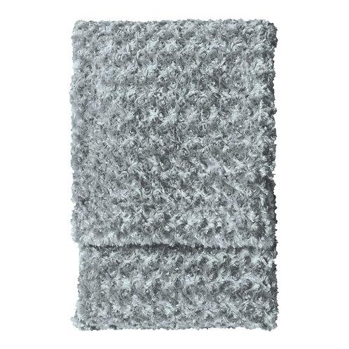 Dweller Faux Fur Throw - Mid Grey