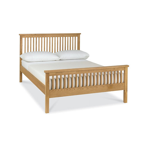 Atlanta Oak High Footend Bedstead - Double 135 cm