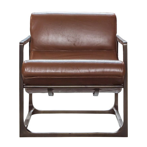 Shelby Lounger Brown Leather