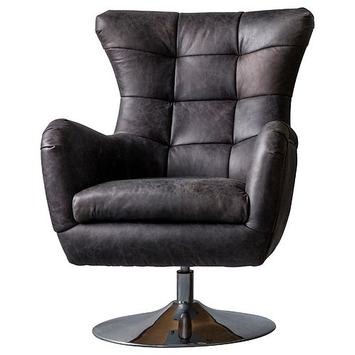 Cardiff Swivel Chair Antique Ebony