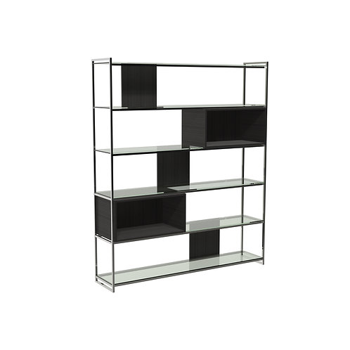 Federico High Bookcase in Polished Frame