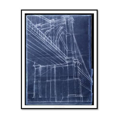 Bridge Blueprint II - Framed & Mounted