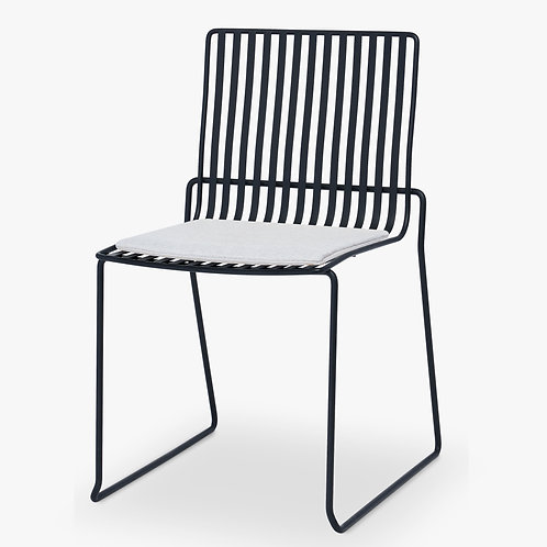 Finn Stacking Dining Chair in Black