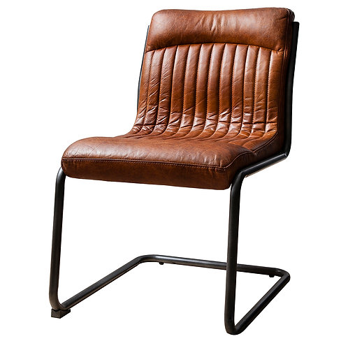 Elba Leather Chair Brown