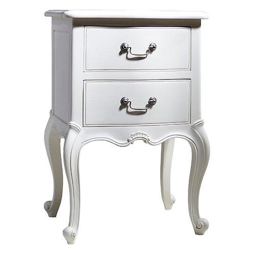 Shabby Chic Bedside Table - Vanilla White