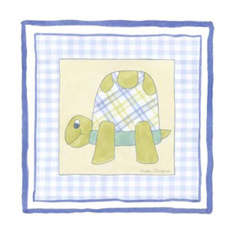 Turtle with Plaid III - Canvas Art