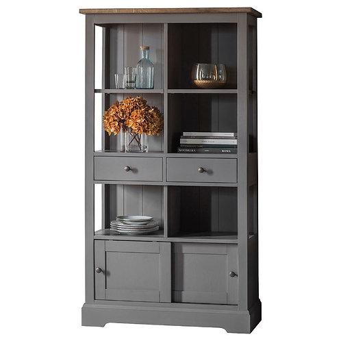 Baker Bookcase in Grey