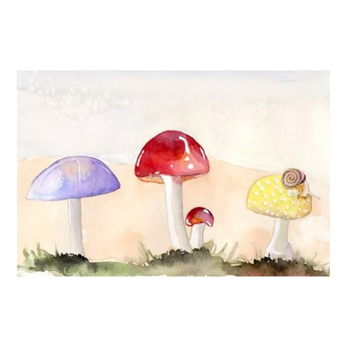 Faerie Mushrooms II - Canvas Art