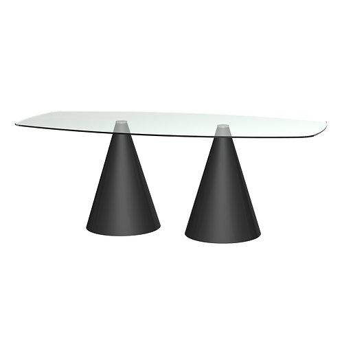 Oscar Rectangular Dining Table - Black Base