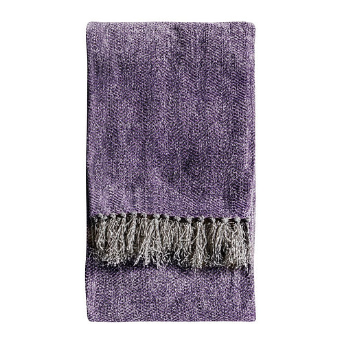 Cheyenne Herringbone Throw - Plum