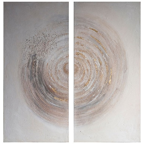 Whirly Textured Art Canvas