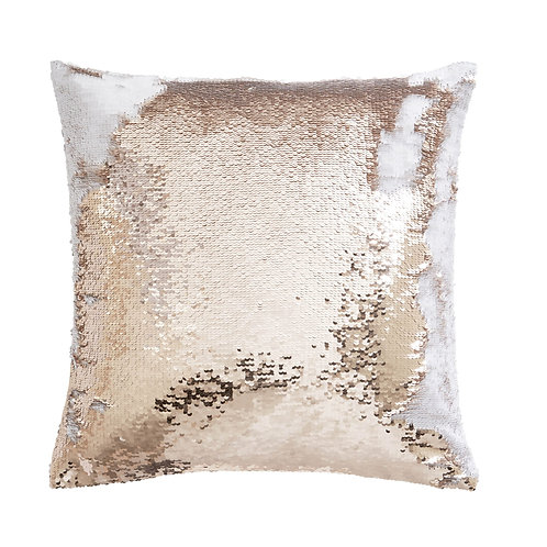 Sequin Rose Gold Cushion