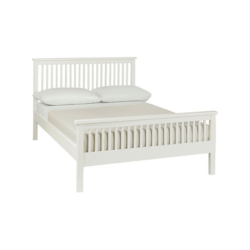 Atlanta White High Footend Bedstead - King 150 cm
