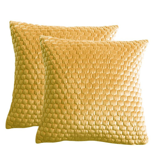 Yellowman Cushion Ochre (2 Pk)