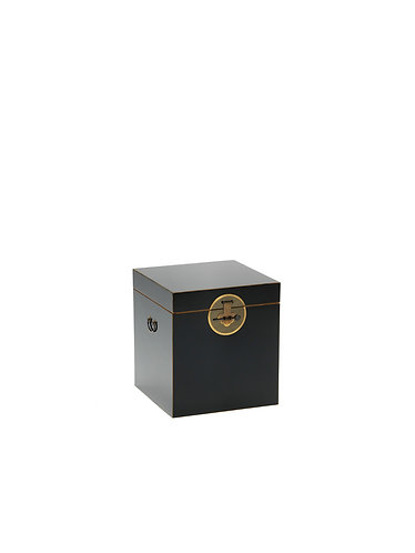 40502 - The Nine Schools Qing Black and Gilt Trunk