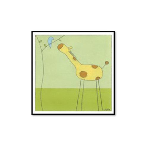 Stick-Leg Giraffe II - Framed & Mounted Art
