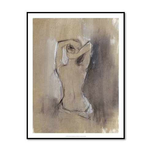 Contemporary Draped Figure  I - Framed & Mounted