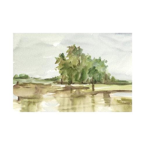 Muted Watercolour II - Canvas Art