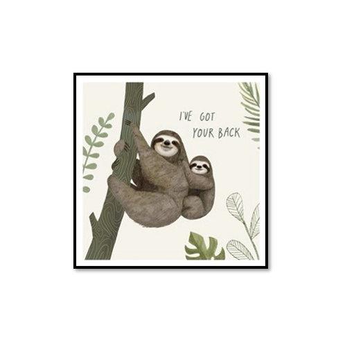 Sloth Sayings III - Framed & Mounted Art